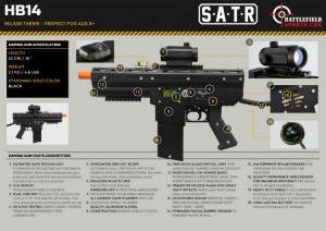 Full specs of the Honey Badger HB14